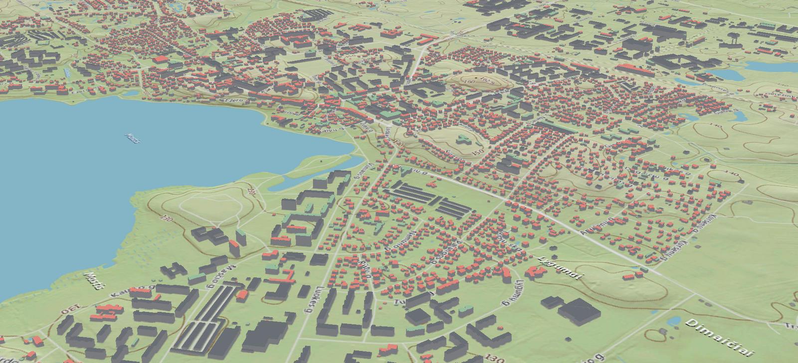 Pristatomas pirmasis detalus Lietuvos 3D žemėlapis | kl lt