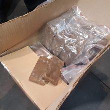 Šiaulių rajone sunaikinta pusė tonos kokaino, jo vertė – 49 mln. eurų