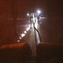 Vakarų Virdžinijoje nuo bėgių nulėkė naftos sąstatas, kilo didelis gaisras