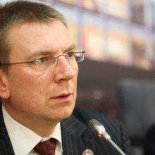 Latvijos užsienio reikalų ministras: mes neturime ko aptarti su V. Putinu