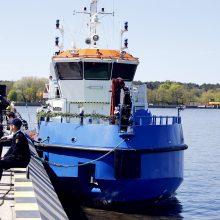 Pakrikštytas naujasis Uosto direkcijos laivas