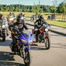 Į vilties žygį leidosi daugiau nei šimtas motociklininkų