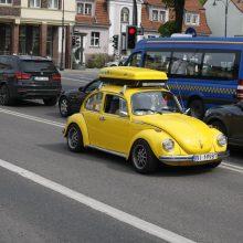 """Uostamiesčio gatvėse – spalvingi """"vabalai"""" ir burbulų fiesta"""