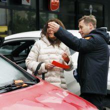 Iš uostamiesčio kontrolierių vairuotojams – ne baudos, o dovanos