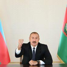 I. Alijevas: Azerbaidžanas eisi iki galo