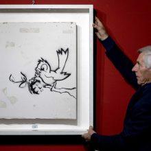Banksy kūrinys aukcione parduotas už 170 tūkst. eurų