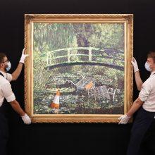 Banksy kūrinys aukcione parduotas už 7,6 mln. svarų