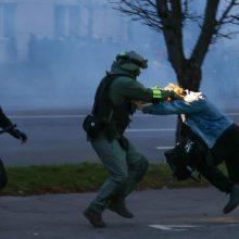 Minskas neigia pranešimus apie studentą, neva pašautą per protestą