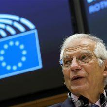 J. Borrellis: ES nepripažįsta A. Lukašenkos Baltarusijos prezidentu