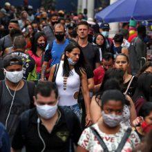 Brazilijoje per parą mirė daugiau kaip tūkstantis koronavirusu užsikrėtusių žmonių