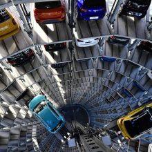 Vokietijos automobilių rinka pernai patyrė istorinį nuosmukį