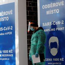 Čekijoje – vėl rekordinis naujų infekcijų skaičius