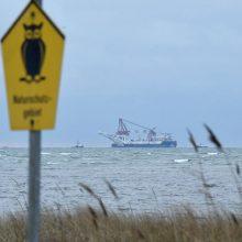 """Vokietija leido šalies vandenyse tęsti """"Nord Stream 2"""" dujotiekio tiesimo darbus"""