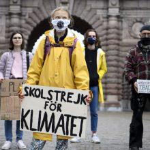 G. Thunberg dėl COVID-19 protrūkio protestus vėl rengs internetu