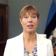 Estijos prezidentė 2020-ųjų pabaigoje buvo išvykusi slidinėti į Šveicariją