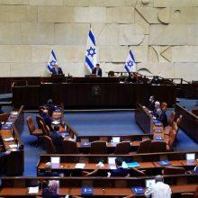 Izraelyje preliminariai pritarta siūlymui paleisti parlamentą