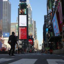 Naujųjų sutiktuvės Niujorko Taimso aikštėje vyks nuotoliniu būdu
