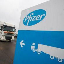 """""""Pfizer"""" iki metų pabaigos pagamins 50 mln. vakcinos dozių"""