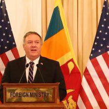 M. Pompeo tęsia JAV kampaniją prieš Kiniją