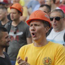 Baltarusijoje sulaikyti protestuojantys šachtininkai