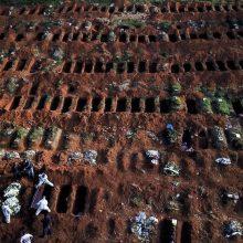 Brazilijoje patvirtintas mirčių nuo COVID-19 skaičius viršijo 200 tūkst.