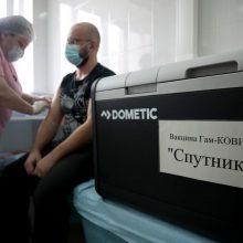Rusijoje apie 20 žmonių susirgo COVID-19 paskiepyti viena vakcinos doze