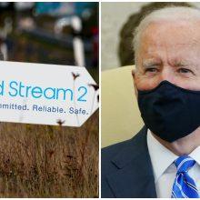 """40 JAV senatorių paragino J. Bideną išplėsti sankcijas """"Nord Stream 2"""" projektui"""