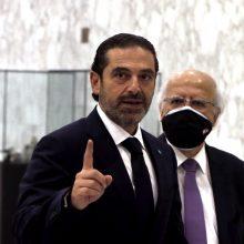 Libano paskirtasis premjeras: krizei įveikti reikia naujos vyriausybės