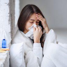 Praėjusią savaitę gripu susirgo du žmonės, išaugo sergamumas peršalimo ligomis