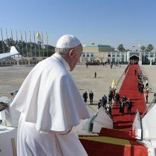 Popiežius padėkojo irakiečiams už svetingumą ir palinkėjo taikos