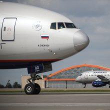 """Maskvoje nusileido apie variklių valdymo sistemos gedimą pranešęs """"Boeing 777"""""""