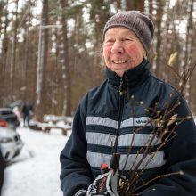 Kauniečiai užgulė Kleboniškio miško kalnus
