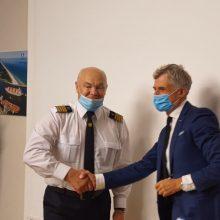 Kapitonui A. Aleknai – paskutinė darbo diena: vadovai dėkojo už indėlį į uosto veiklą