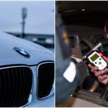 Palangoje sulaikytas prieš eismą važiavęs neblaivus ir beteisis BMW vairuotojas