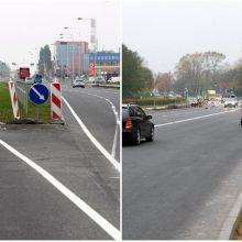 Po judrios sankryžos rekonstrukcijos – nepatogumai: nebeleis pasukti į kairę
