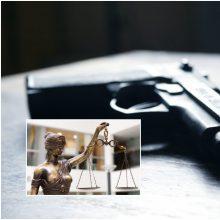 Nuosprendis: teismas nepagailėjo neblaivaus vyro, palikusio ginklą viešoje vietoje