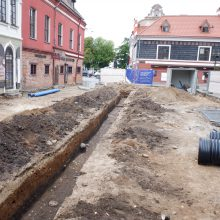 Kaune atliekami archeologiniai tyrimai: atradimai Vilniaus gatvėje keičia įprastą miesto paveikslą