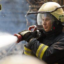 Dujų balioną keitęs vyras name sukėlė gaisrą: užduso bute buvę augintiniai