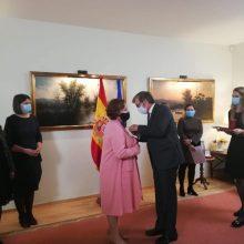 L. Andrikienei įteiktas Ispanijos Karalystės ordinas
