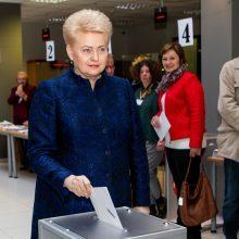 """D. Grybauskaitė linki išsirinkti prezidentą pagal tai, """"ką sako protas ir širdis"""""""