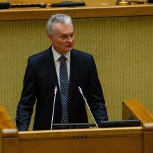Prezidento atstove Seime paskirta jo patarėja