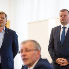 """""""Socialdarbiečiai"""" koaliciją paliktų dėl vaiko pinigų, ne dėl Seimo pirmininko"""