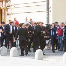 Gausios policijos pajėgos prižiūri G. Nausėdos inauguracijos renginius
