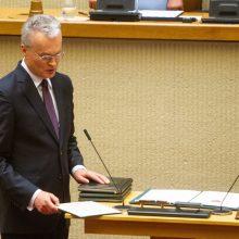 Prezidentas G. Nausėda prisiekė Lietuvai: žada mažinti socialinę atskirtį