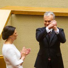 Seimo pirmininkas D. Grybauskaitei dėkojo už vertybinį stabilumą