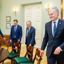 Seimo valdyba susitiko su G. Nausėda aptarti būsimų darbų