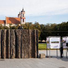 """Iš Lukiškių aikštės išveža """"Laisvės kalvą"""" – sulaukė ir kritikos, ir išpuolio"""