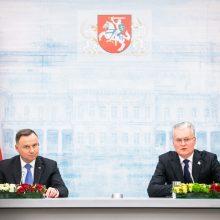 Lietuvos ir Lenkijos prezidentai telefonu aptars padėtį Baltarusijoje