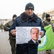 Tęs protestus: pareigūnai kreipiasi į prezidentą dėl valdžios nevykdomų pažadų