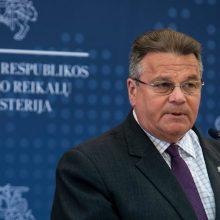 L. Linkevičius siūlys ES sankcijas Baltarusijos pareigūnams
